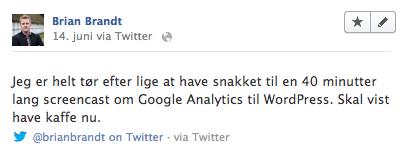 Tweets på Facebook