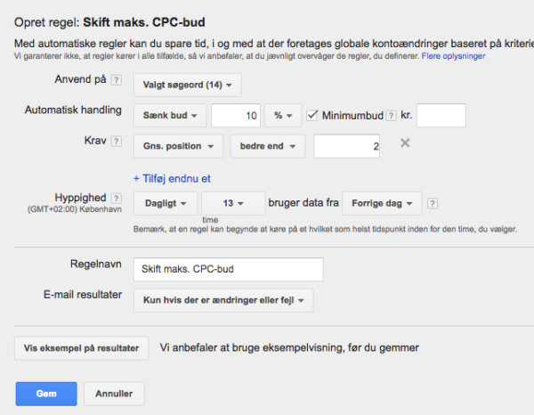 Automatisering i Adwords
