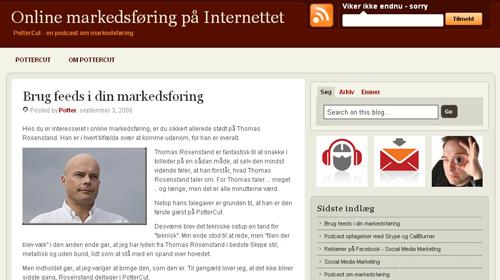 Dansk podcast om online markedsføring – Pottercut