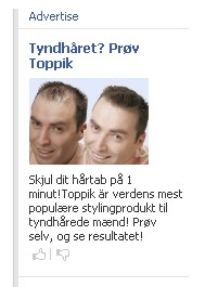 Facebook reklamerer for en top pik