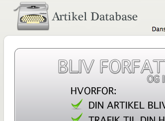 Ny dansk artikel database