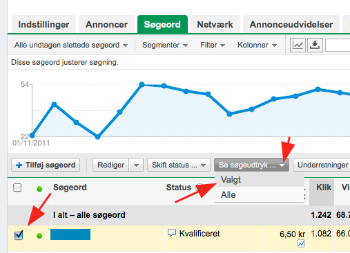 Google Adwords trick: Hvordan du finder fleksible søgeord i Google Analytics